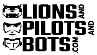 Logo of Lions and Pilots and Bots… Dot Com!