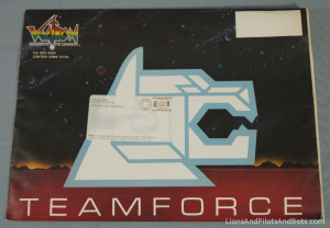 Voltron TeamForce Membership Kit Envelope (#1, Front)