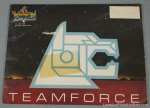 Voltron TeamForce Membership Kit Envelope (#2, Front)