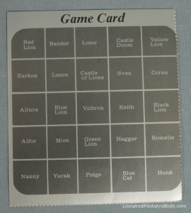 Voltron TeamForce Game Card