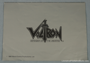 Voltron TeamForce Membership Kit - Welcome Letter (Folded, Back)